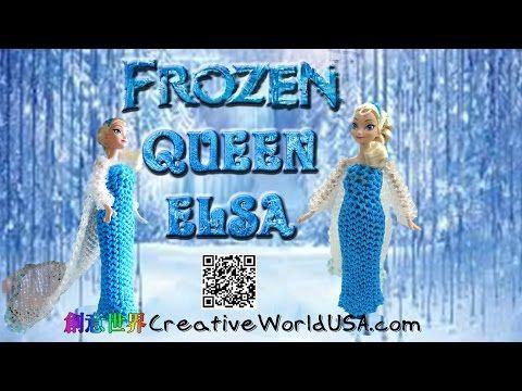 Rainbow Loom Frozen Queen Elsa Dress/Wedding/Evening Gown 婚紗禮服/晚禮服 - 彩虹編織器中文教學 Chinese Tutorial - YouTube
