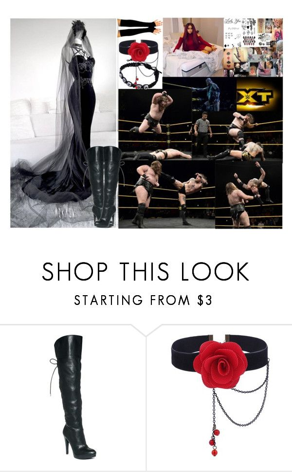 """🐰 Bubbles Crowley 🐰- NXT ⚫️ So I Heard You Like Chaos?"" by iron-maiden-amy ❤ liked on Polyvore featuring INC International Concepts, WWE and wweoc"