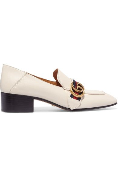 Heel measures approximately 35mm/ 1.5 inches Off-white leather Slip on Made in Italy