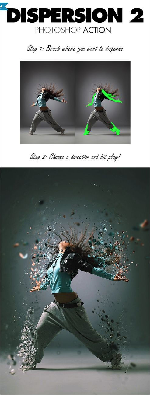 Dispersion 2 Photoshop Action by sevenstyles #photoshop #action #graphicriver