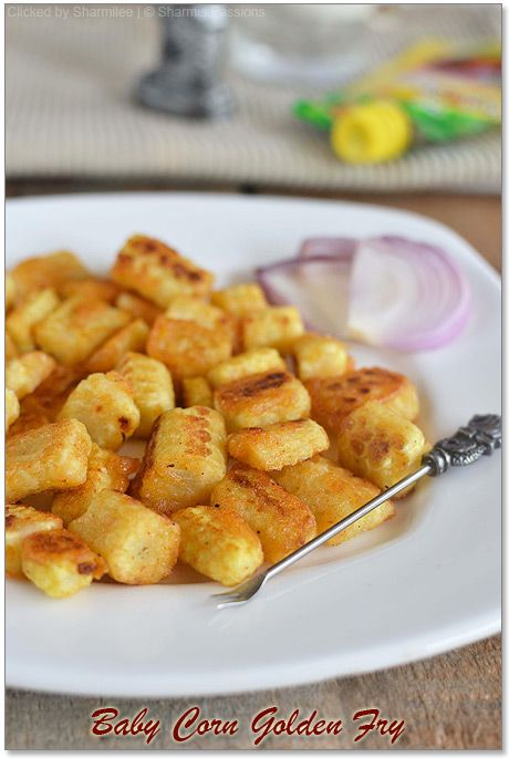 Baby Corn Fry (Baby Corn Golden Fry)