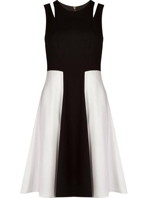 Vestido de festa curto preto e branco, amei!