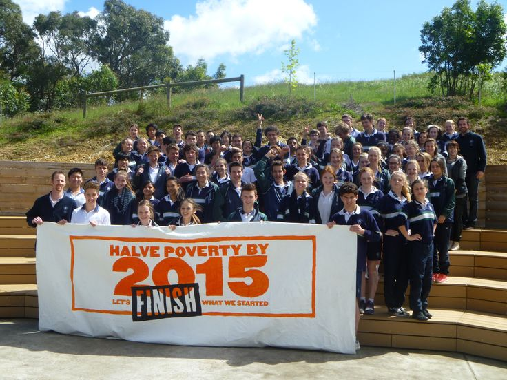 Donvale Christian College, Victoria - An active groups of students painted their own Finish the Race banner and have contacted their Federal MP to show their support to Halve Poverty by 2015!