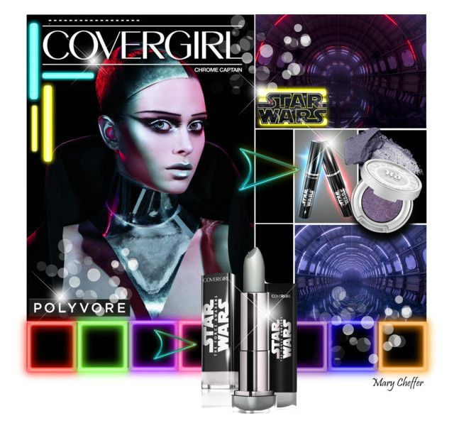 """Covergirl Chrome Captain - Star Wars"" by mcheffer ❤ liked on Polyvore featuring beauty, Urban Decay, BeautyTrend, Beauty, makeup, covergirl and starwars"