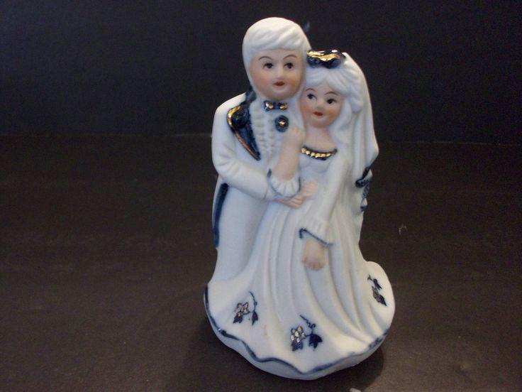 Lego China Bridal Couple Figurine, Blue and White Bridal Figurine, Lego China, Made in Taiwan by SashaAzreal on Etsy