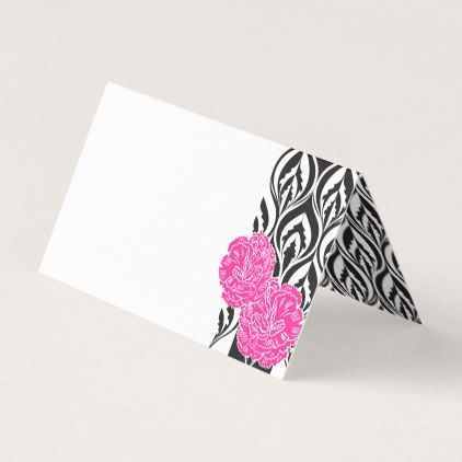 Luxe pink carnation graphic guest place cards - #customizable create your own personalize diy