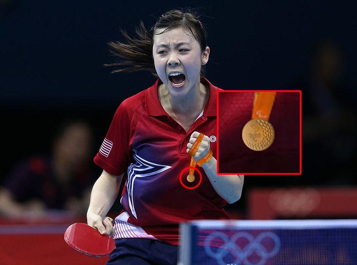 Not sure if it's messed up or adorable that Olympic table tennis players get tiny medals.