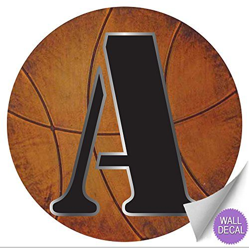 Wall Letters A Basketball Letter Stickers Alphabet Initial Vinyl Sticker Kid Decals Children Room Decor Baby Nursery Boys Bedroom Decorations Child Names Personalized Decal Graphic Sports Balls Girl