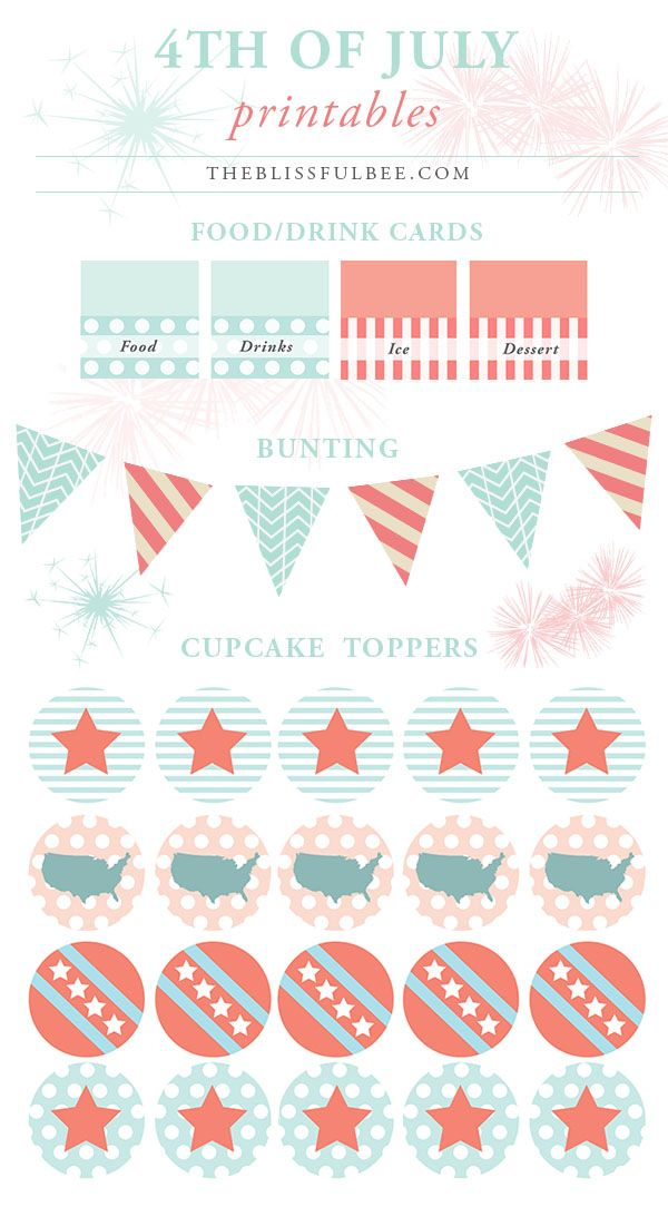 free fourth of july applique