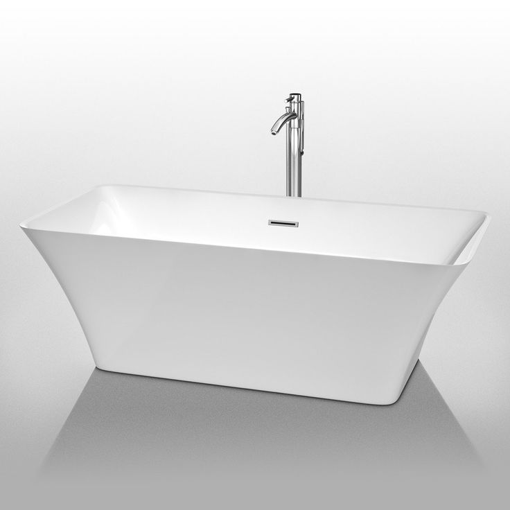 Tiffany 67 Inch Freestanding Tub By Wyndham Collection. Much Deeper Than  Standard Tubs For Full Immersion. Warmer To The Touch And More Comfortable  Than ...
