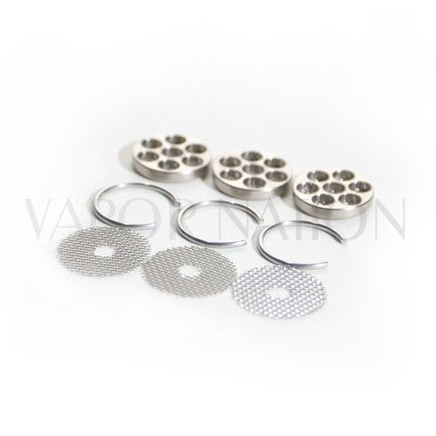 http://www.vapornation.com/iolite-replacement-screens.html       This triple pack of replacement screens for the Iolite vaporizer includes:      3 seven dot mesh screens     3 retaining rings      Designed for use with the Iolite Portable Vaporizer.      Designed to be used with the Iolite Portable Vaporizer, the 3 Pack of Replacement screens includes 3 Seven-Dot Mesh Screens and 3 Retaining Rings.