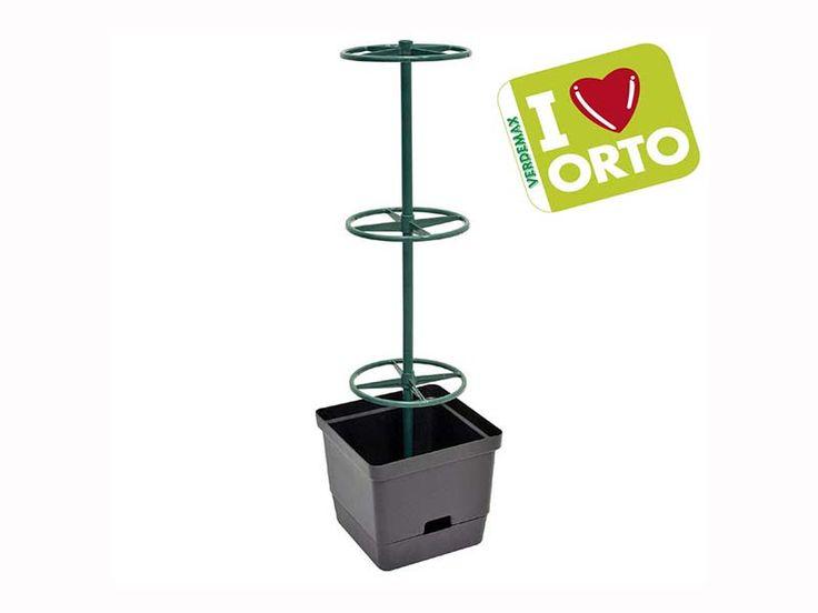 Vaso contenitore Verdemax Ortovaso per rampicanti 28x28xh28cm (22