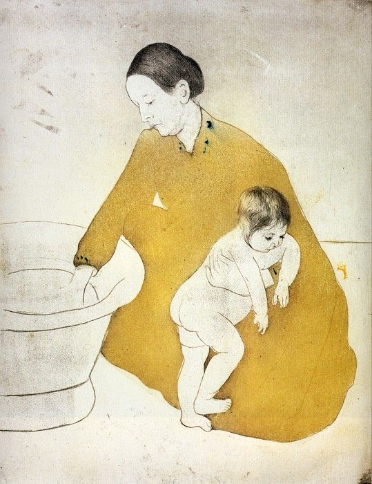 Время мытья, 1891. Мэри Кассат