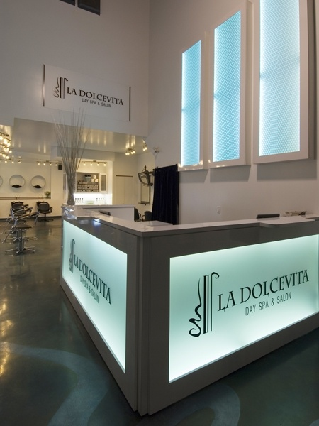 front desk at La Dolcevita Day Spa and Salon
