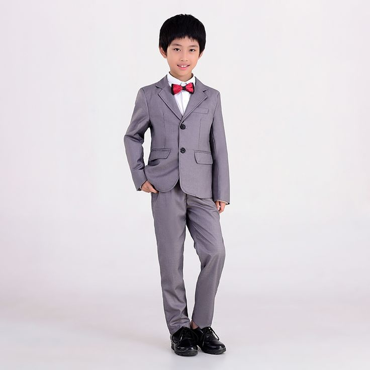 59.48$  Buy here  - 4 pieces!  children dress suits for boys 5-14 years boys long sleeve grey suits for weddings blazers for boys formal suits 08D