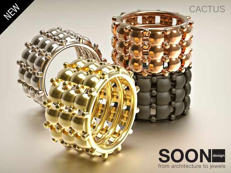 NEW RING CACTUS - available for sale http://www.shapeways.com/model/2988436/cactus-ring-size-7.html?li=shop-results&materialId=85