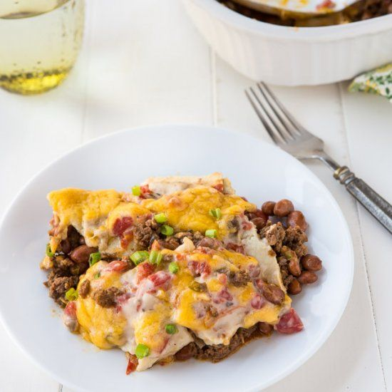 One of my go-to casseroles of all time... firecracker casserole.