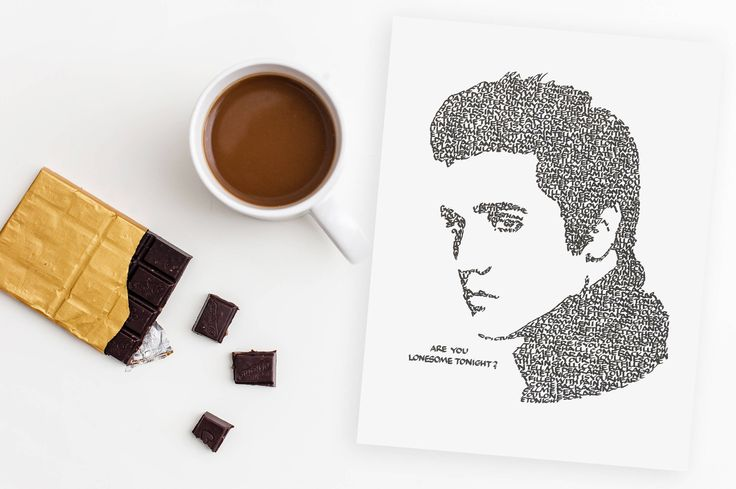 Are You Lonesome Tonight? Turn on an Elvis tune and grab the chocolate! A Limited Edition Print of a Hand-lettered Image