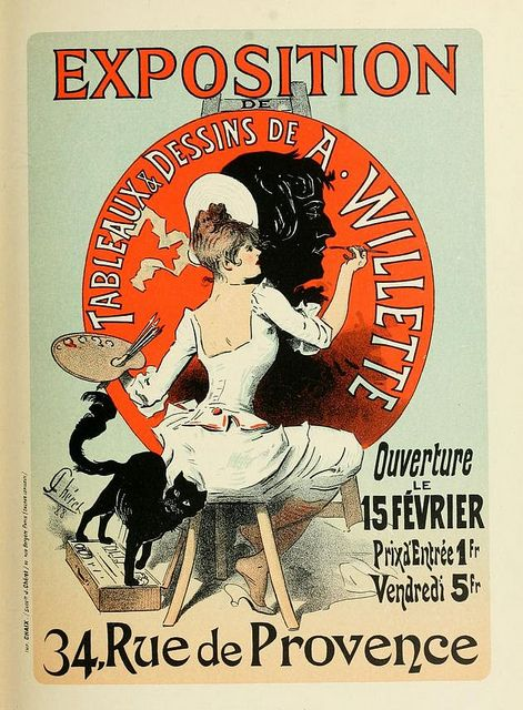 Vintage French Art Exhibition Poster (1890s)