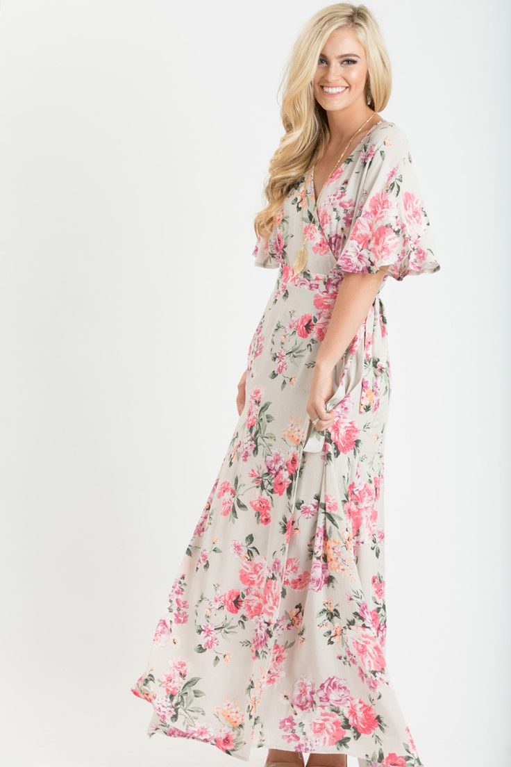 Maxi dresses for women floral maxi dress women 39 s outfit for Boutique wedding guest dresses