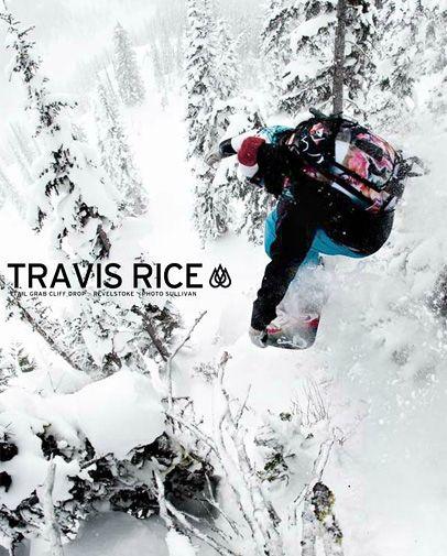 Travis Rice | Tail grab cliff drop - Revelstoke