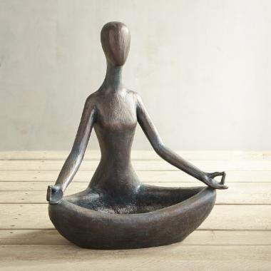 Yoga woman bird feeder