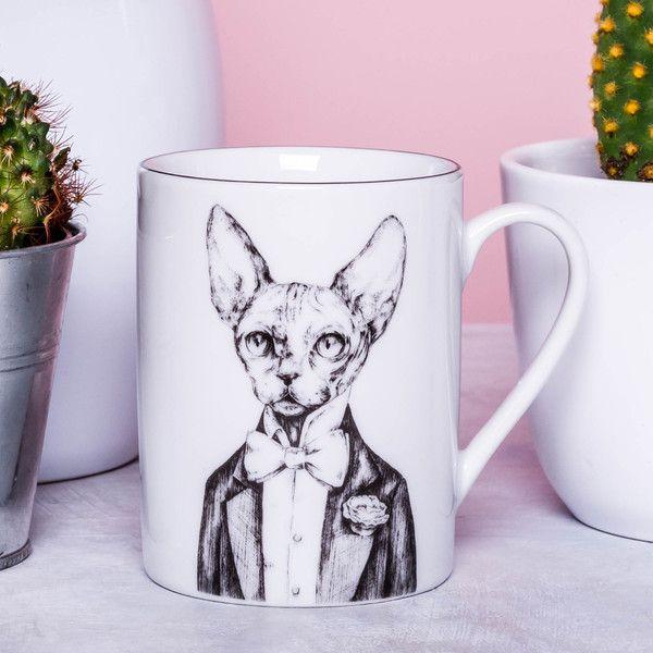 Kubek z kotem - GiftWorkshop - Kubki i filiżanki