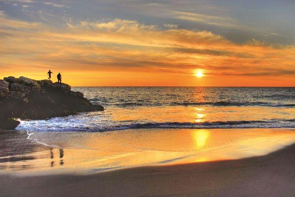 Sunset over City Beach in Perth, Western Australia