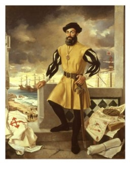 Portuguese navigator, Ferdinand Magellan and his crew were the first people to circumnavigate the globe . Magellan died during the expedition but his party completed the journey.