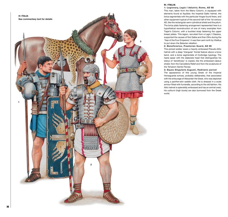 Rome; Units serving in Italia during 1st & 2nd Centuries AD. Click on image to ENLARGE and double click to reduce,
