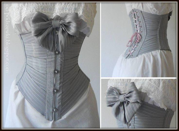 Ribbon corset 1900s.  by Unicornis