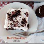 Red Velvet Oreo Poke Cake - A Day In Candiland