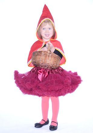 farsangi jelmez burgundi vörös pettiskirt tütü piroska little red riding hood