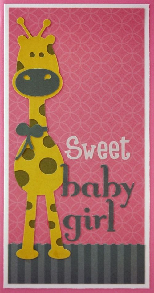 Baby Girl Card Making Ideas Part - 48: Fabulous Cricut Baby Girl Card Idea