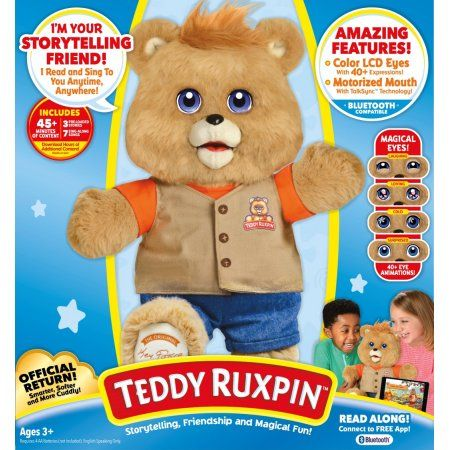 Teddy Ruxpin. I had one these! So neat to see a newer version. This is on my list for our kids.