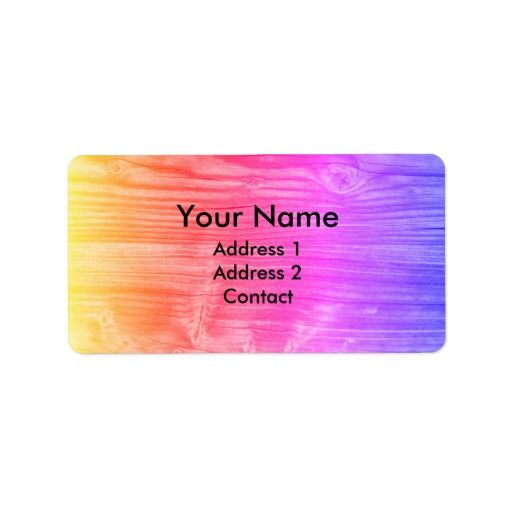 Colorful Gradient Funky Wood Label  #Colorful #Gradient #Funky #Wood #Label #adresslabel #name #contact #office #zazzle