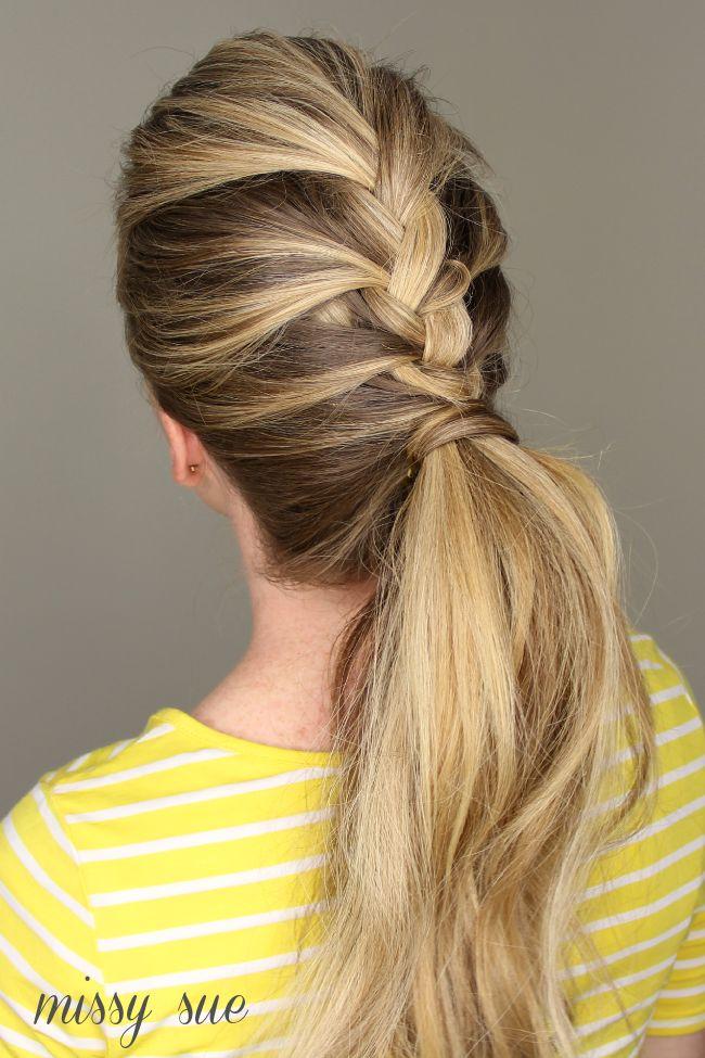 Fabulous 1000 Ideas About French Braided Ponytail On Pinterest Braid Short Hairstyles For Black Women Fulllsitofus
