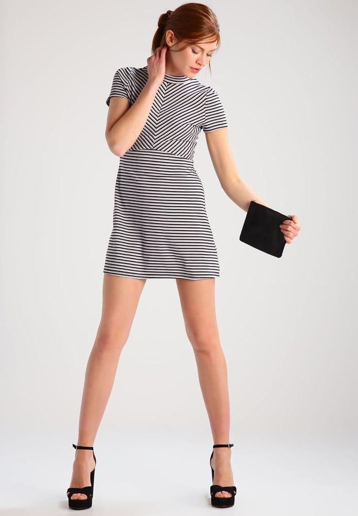 Jennyfer GIULIU - Sukienka z dżerseju - noir/blanc - Zalando.pl