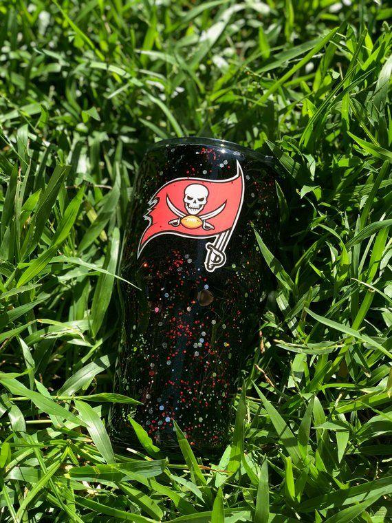 Tampa Bay Buccanceers Glitter Tumbler Tampa Bay Bucs Cup Go Etsy Glitter Tumbler Tumbler Tampa Bay
