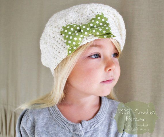 72a14e1a5 Crochet Pattern: The Beau Beret -Toddler, Child, & Adult Sizes ...