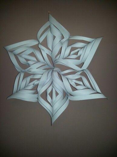 Paper snowflake (super easy)
