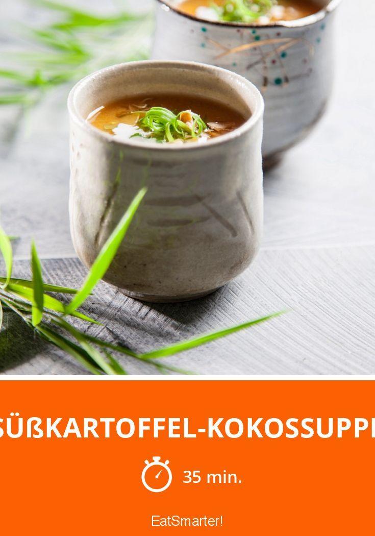 Süßkartoffel-Kokossuppe | http://eatsmarter.de/rezepte/suesskartoffel-kokossuppe