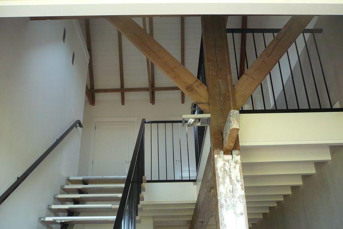 Balustrade vide trapleuning op maattrapleuning op maat vloeren pinterest search - Balustrade trap ...