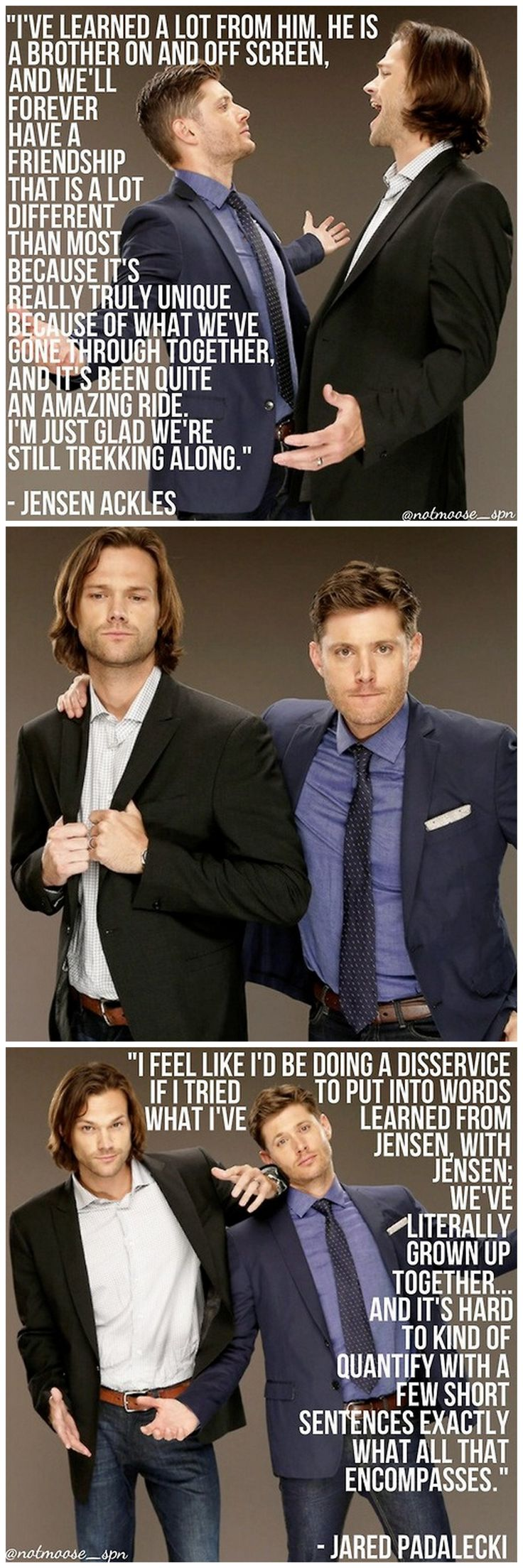 Jared padalecki quotes - Quotes From Jared And Jensen At The Tca14 This Make Me Happy And Sad At