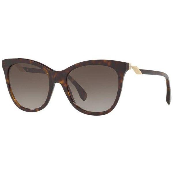 Fendi Fd 0200 Tortoise Cat-Eye Sunglasses ($350) ❤ liked on Polyvore featuring accessories, eyewear, sunglasses, fendi glasses, cat eye sunglasses, tortoiseshell glasses, tortoiseshell cat eye sunglasses and fendi sunglasses