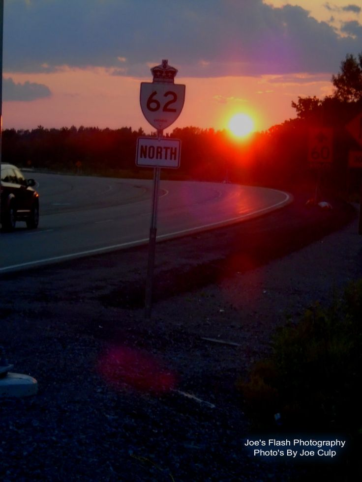 Hot Humid July Evening Sunset off Highway 62 in Foxboro Ontario