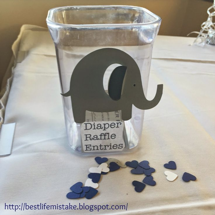 Elephant Themed Baby Shower Diaper Raffle