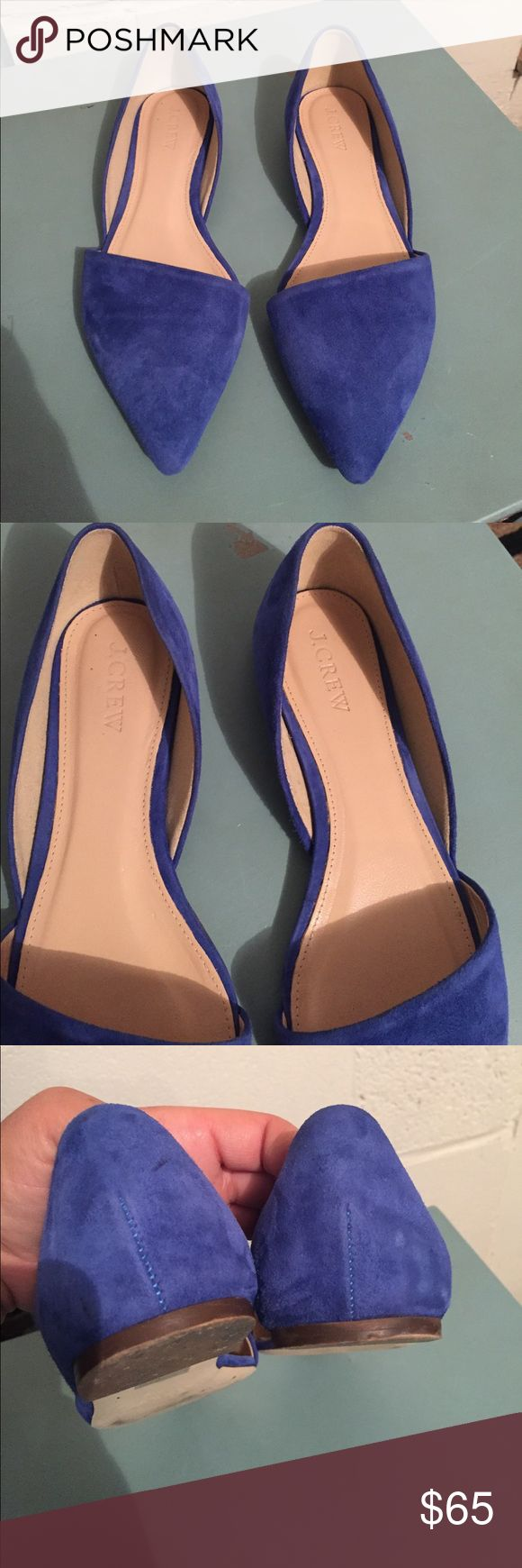 ⚡️SALE⚡️J. Crew Blue Suede d'Orsay Flats J. Crew Blue Suede d'Orsay Flats - (Not from Outlet Store) - Great Pre-Own Condition - Any Questions, please ask! J. Crew Shoes Flats & Loafers
