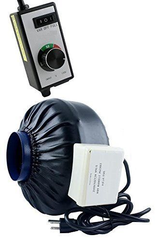 Maximum Horticulture Centrifugal Inline Duct Fan With Charcoal Carbon Filter and Variable Fan Speed Controller >    ...