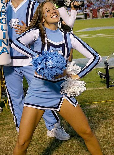 Northa Carolina, Tar Heels,  #cheer, college, football game cheerleading cheerleader m.23.5 #KyFun